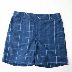 Under Armour | Blue Plaid Golf Shorts